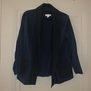 Navy and Black Cotton Blazer